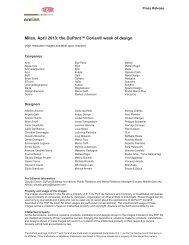 Milan, April 2013: the DuPont™ Corian® week of design - Archilovers