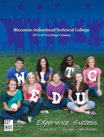 Download full copy of 2013-2014 WITC College Catalog - Wisconsin ...