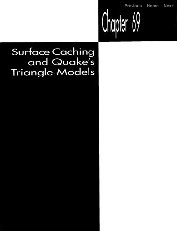 surface caching and quake's triangle models