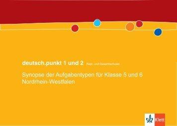 deutsch.punkt 1 und 2, Pdf-Datei - Ernst Klett Verlag