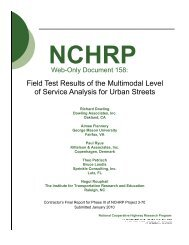 Multimodal Level of Service Analysis for Urban Streets - TOD
