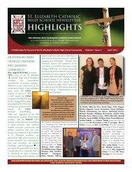 April Newsletter 2012 - St. Elizabeth Catholic High School - the York ...