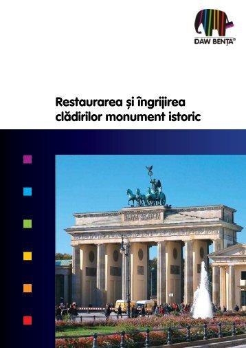 Brosura Renovarea monumentelor istorice - Caparol