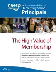 benefits of membership - National Association of Elementary School ...
