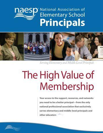 benefits of membership - National Association of Elementary School ...