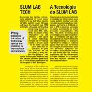 SLUM LAB TECH A Tecnologia do SLUM LAB - Proxy