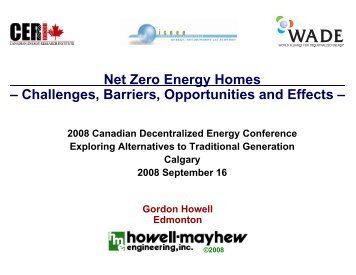 Net Zero Energy Homes - Howell-Mayhew Engineering
