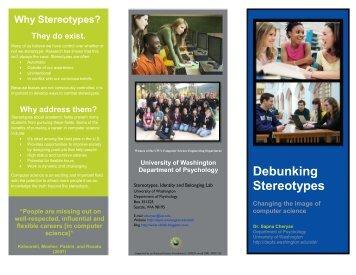 Debunking Stereotypes Brochure - University of Washington