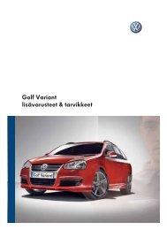 Golf Variant lisävarusteet & tarvikkeet - Volkswagen
