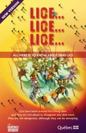 Lice... Lice... Lice - MSSS/Notice/Copyright - Gouvernement du ...