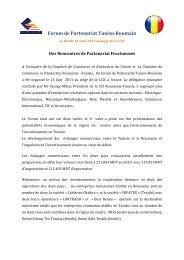 Forum de Partenariat Tuniso-Roumain - Chambre de commerce et d ...
