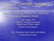 Specimen Collection, Packaging, & Shipping. - Illinois Public Health ...