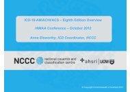 ICD-10-AM/ACHI/ACS - Health Information Management ...