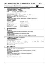 Safety Data Sheet in Accordance with Regulation - pss-interservice.ch