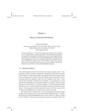 Waves in Non-Neutral Plasmas - Nonneutral Plasma Group