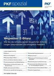 Wegweiser E-Bilanz - PKF