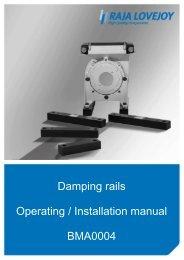 Damping rails Operating / Installation manual BMA0004 - R+L ...