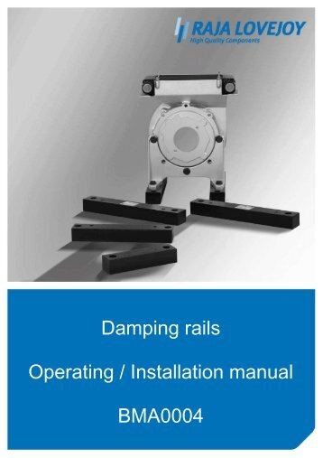 Damping rails Operating / Installation manual BMA0004 - R+L ...