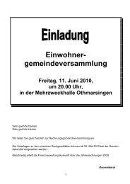 Einwohner- gemeindeversammlung - Othmarsingen
