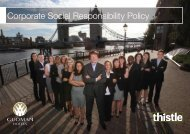 Corporate Social Responsibility Policy - Thistle Hotels