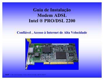 Guia de Instalação Modem ADSL Intel ® PRO/DSL 2200 - ABUSAR