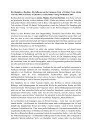 Illo Humphrey: Boethius. His Influence on the European Unity of ...