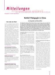 Notfall-Pädagogik in China - Anthroposophische Gesellschaft in ...