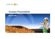 Investor presentation: Santander Investment ... - Antofagasta plc