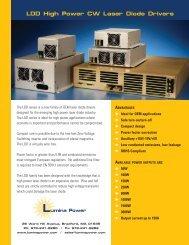 LDD High Power CW Laser Diode Drivers