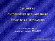 Oxythérapie hyperbare - Secours-montagne.fr