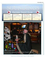 November 2011 Issue - Encinal Yacht Club
