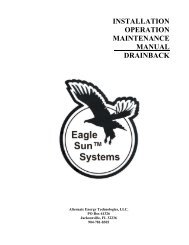 Drainback System Manual