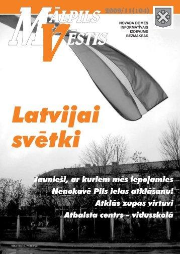 Nr. 11 (104) Novembris - Mālpils