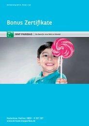 Bonus Zertifikate - BNP Paribas