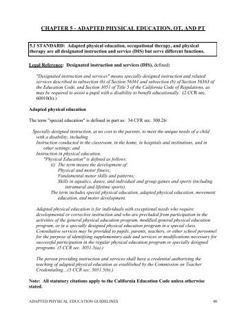 Link for Chapters 5-6 - State Council on Adapted Physical Education