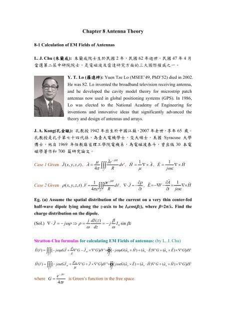 Chapter 8 Antenna Theory