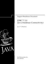 "JDBCâ""¢ 2.0 (Java Database Connectivity)"