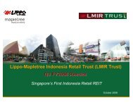 Presentation Slides (319 KB) - Lippo Malls Indonesia Retail Trust ...