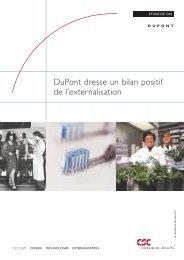 DuPont dresse un bilan positif de l'externalisation - CSC