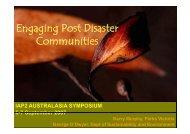 Engaging Post Disaster Communities