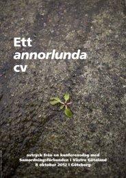 Ett annorlunda cv - Samverkan i Västra Götaland-Startsida