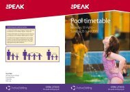 Pool timetable - The Peak at Stirling Sports Village