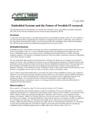 Embedded Systems and the Future of Swedish IT-research - Artes