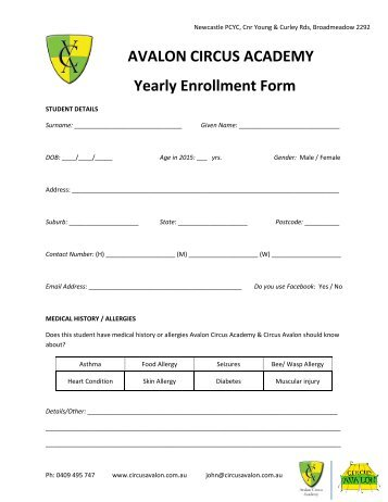 Enrollment Forms And A Letter From The Director - Friends Academy