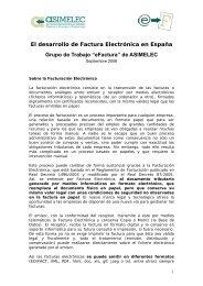 El desarrollo de Factura Electrónica en España Grupo de Trabajo ...
