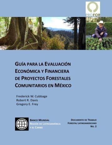 guía para la evaluación económica y financiera de ... - PROFOR