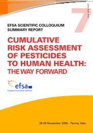 cumulative risk assessment of pesticides to human health - ESKI