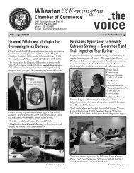The Voice - July-Aug 2013 - Wheaton-Kensington Chamber of ...