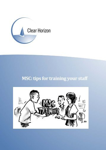 Tips for training staff in MSC.pdf - Monitoring and Evaluation NEWS