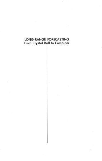 Long-Range Forecasting: People Index - Principles of Forecasting